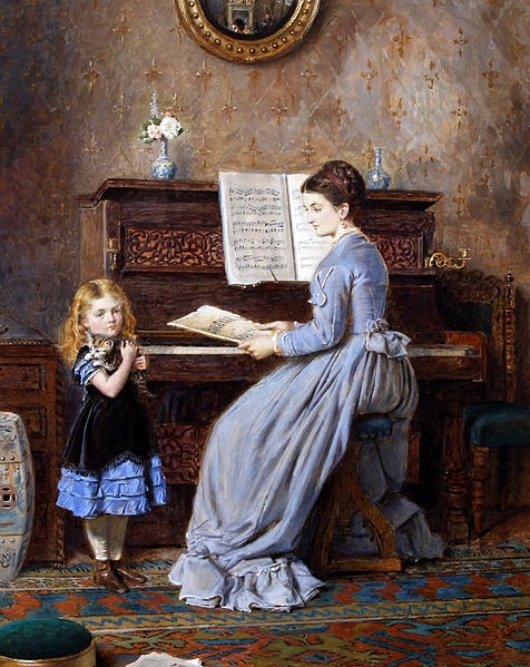 George Goodwin Kilburne The Piano Lesson 1871