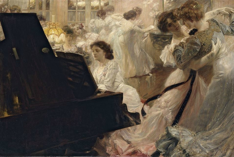 Joseph-Marius Avy Bal blanc 1903. Oil on canvas 139 x 219 cm Paris Petit Palais