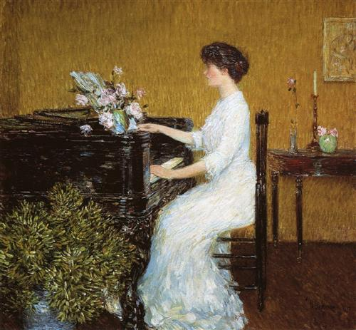 at-the-piano Childe Hassam 1908