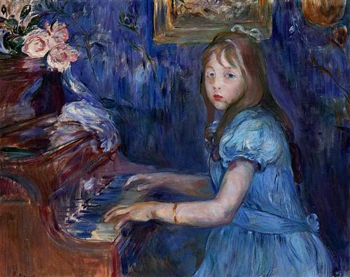 lucie-leon-at-the-piano-1892_Berthe Morisot