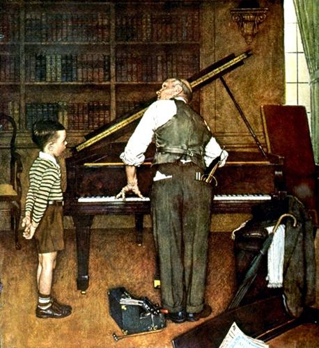 piano tune_Norman Rockwell
