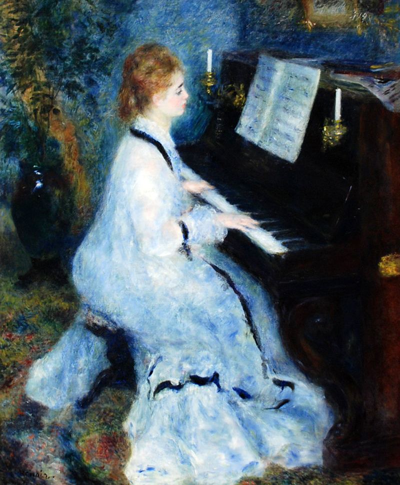 woman at the piano_Renoir