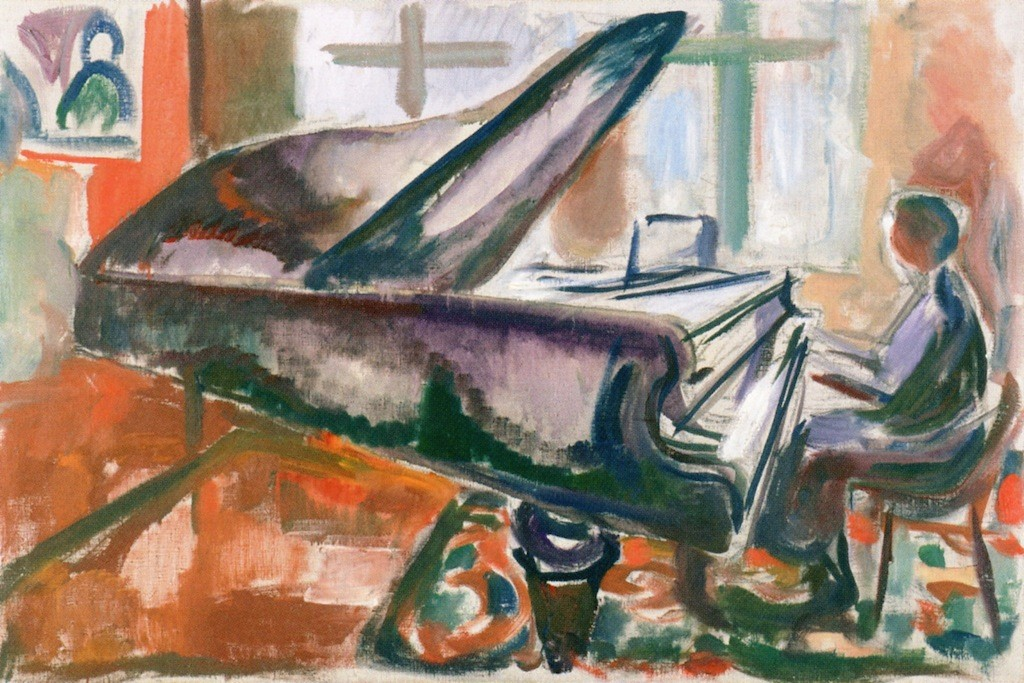 Edvard Munch_At the grand piano