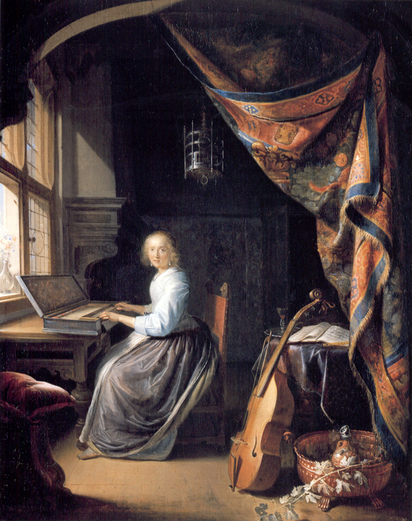 dou_ac Woman at the Clavichord
